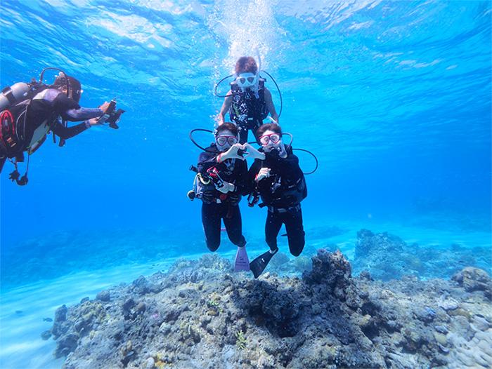 沖縄ハピネスメモリー体験ダイビング水中撮影