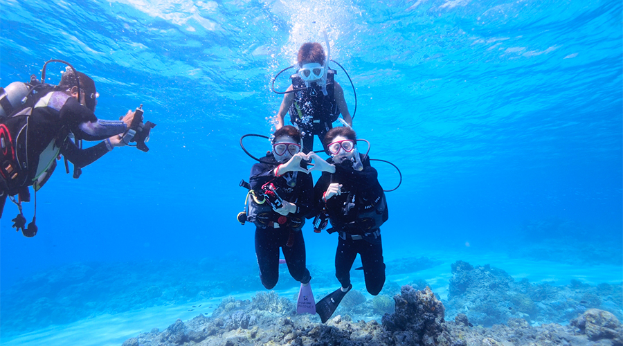 沖縄体験ダイビング 水中撮影