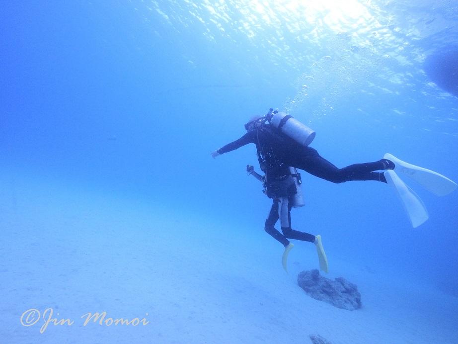 ジェイケ-ウェーブJK-Wave沖縄ドローン空撮付き体験ダイビング024