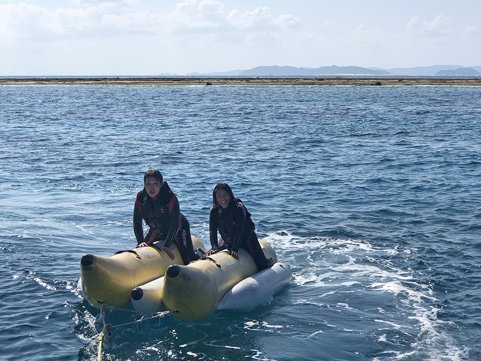 沖縄ダイビング マリンアクティビティ 水中撮影 バナナボート ジェイケーウェーブ JK-Wave