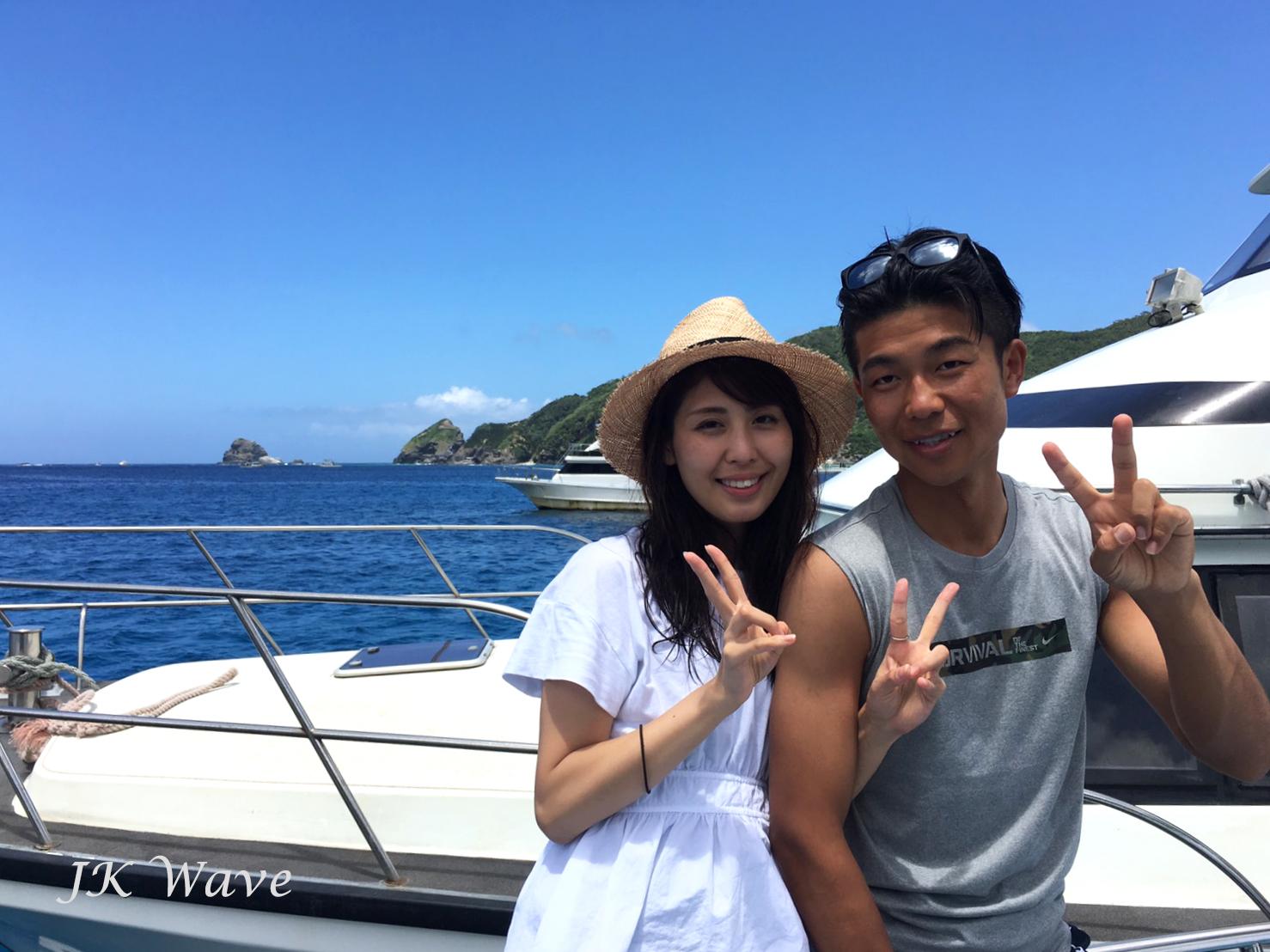 ジェイケ-ウェーブJK-Wave沖縄ドローン空撮付き体験ダイビング_お客様の声001