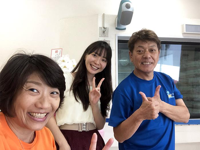 エフエム沖縄 Fine!収録終わって松田礼那さんと記念撮影
